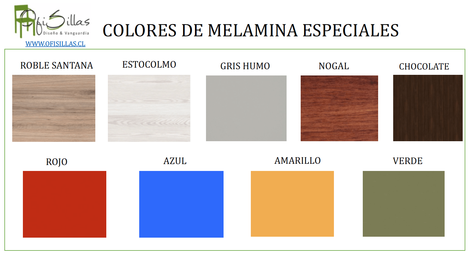 Colores Melaminas Especiales